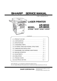 Manual de servicio Sharp AR-EF1