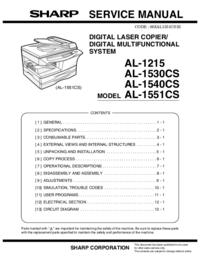 Servicehandboek Sharp AL-1551CS