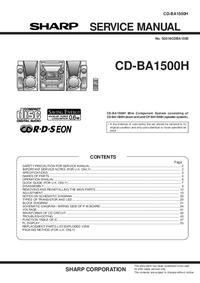 Instrukcja serwisowa Sharp CD-BA1500H