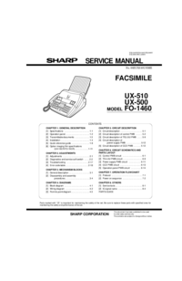 Service Manual Sharp FO-1460