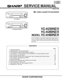 Service Manual Sharp VC-A480NZ/X