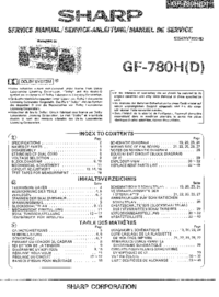 Service Manual Sharp GF-780H
