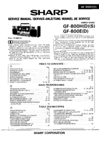 Instrukcja serwisowa Sharp GF-800E