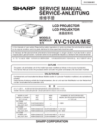 Service Manual Sharp XV-C100A