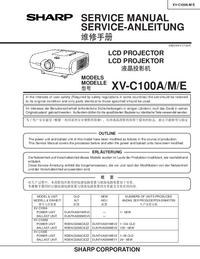 Manuale di servizio Sharp XV-C100M