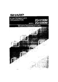 Manual del usuario Sharp ZQ-5300M