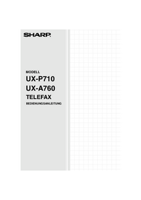 User Manual Sharp UX-P710