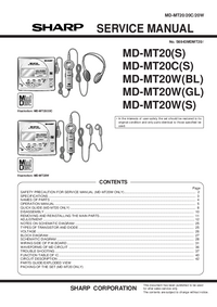 Servicehandboek Sharp MD-MT20(S)
