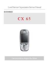 Manual de servicio Siemens CX 65