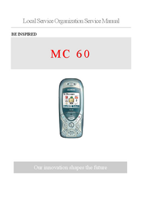 Service Manual Siemens MC 60