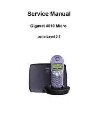 Manual de servicio Siemens Gigaset 4010 Micro