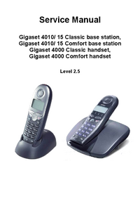 Service Manual Siemens Gigaset 4010 Classic base station