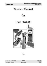 Manual de servicio Siemens S2588