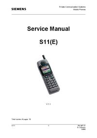 Service Manual Siemens S11E