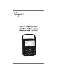 Service Manual Simpson 260 Series 8