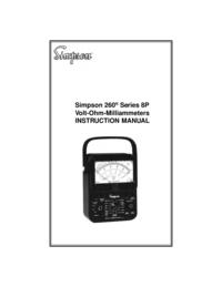 Manuel de l'utilisateur Simpson 260 Series 8P