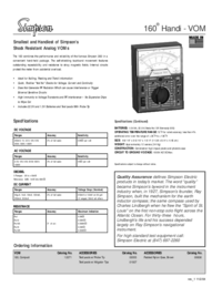 Datasheet Simpson 160