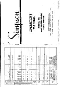 User Manual Simpson 305