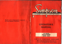 Servicio y Manual del usuario Simpson 383A