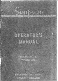 Service and User Manual Simpson 77-380
