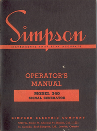 Service and User Manual Simpson 340
