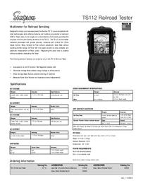 Технический паспорт Simpson TS112