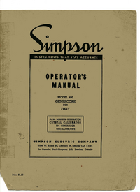 Service and User Manual Simpson 480