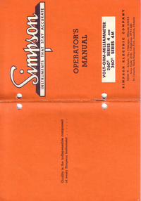 User Manual Simpson 260-4
