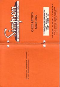 Bedienungsanleitung Simpson 260-4M