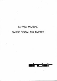Service Manual Sinclair DM235