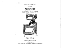 User Manual Singer 29-4