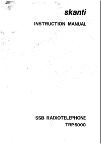 Serwis i User Manual Skanti TRP6000