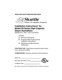 Service and User Manual Skuttle F60-2