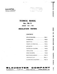 Serwis i User Manual Slaughter Series 106