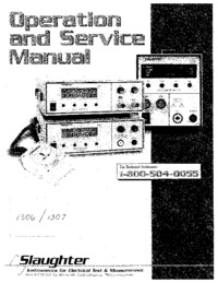 Service and User Manual Slaughter 1306