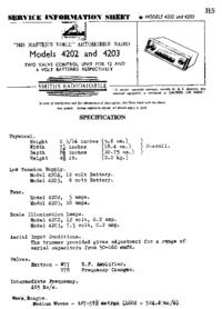 Service Manual SmithRadioMobile 4203