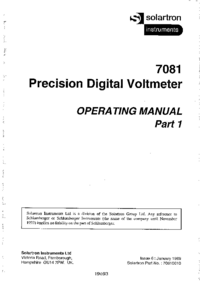 Manual del usuario Solartron 7081