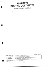Instrukcja serwisowa Solartron 7071