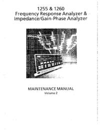 Manual de serviço Solartron 1255