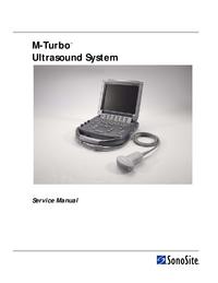 Manual de serviço Sonosite M-Turbo™