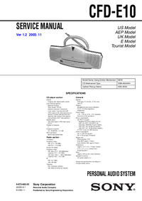 Manual de servicio Sony CFD-E10