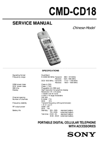 Servicehandboek Sony CMD-CD18