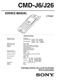 Instrukcja serwisowa Sony CMD-J26