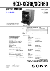 Servicehandboek Sony HCD-XGR6