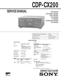 Manuale di servizio Sony CDP-CX200