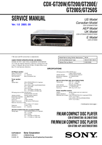 Service Manual Sony CDX-GT200S
