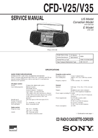 Service Manual Sony CFD-V35