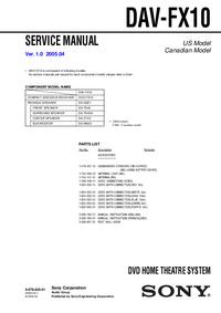 Service Manual Sony DAV-FX10
