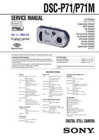Service Manual Sony DSC-P71