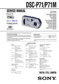 Serviceanleitung Sony DSC-P71